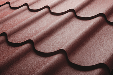 Roof tiles protected with protective film