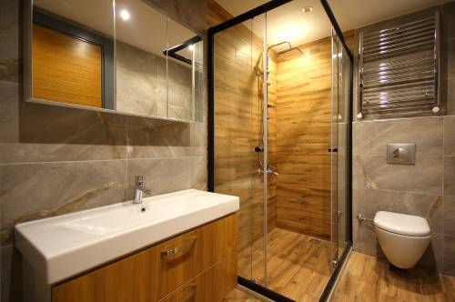 Bathroom furniture with protective films
