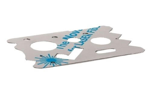 Laser Cutted piece of metal