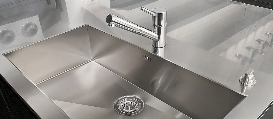 Stainless steel protective film for sinks